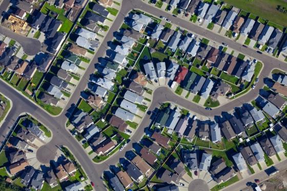 Houses Aerial