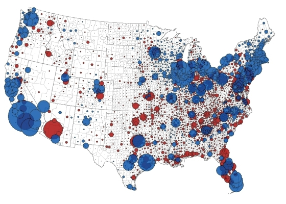 National Election Bubble Map 2008