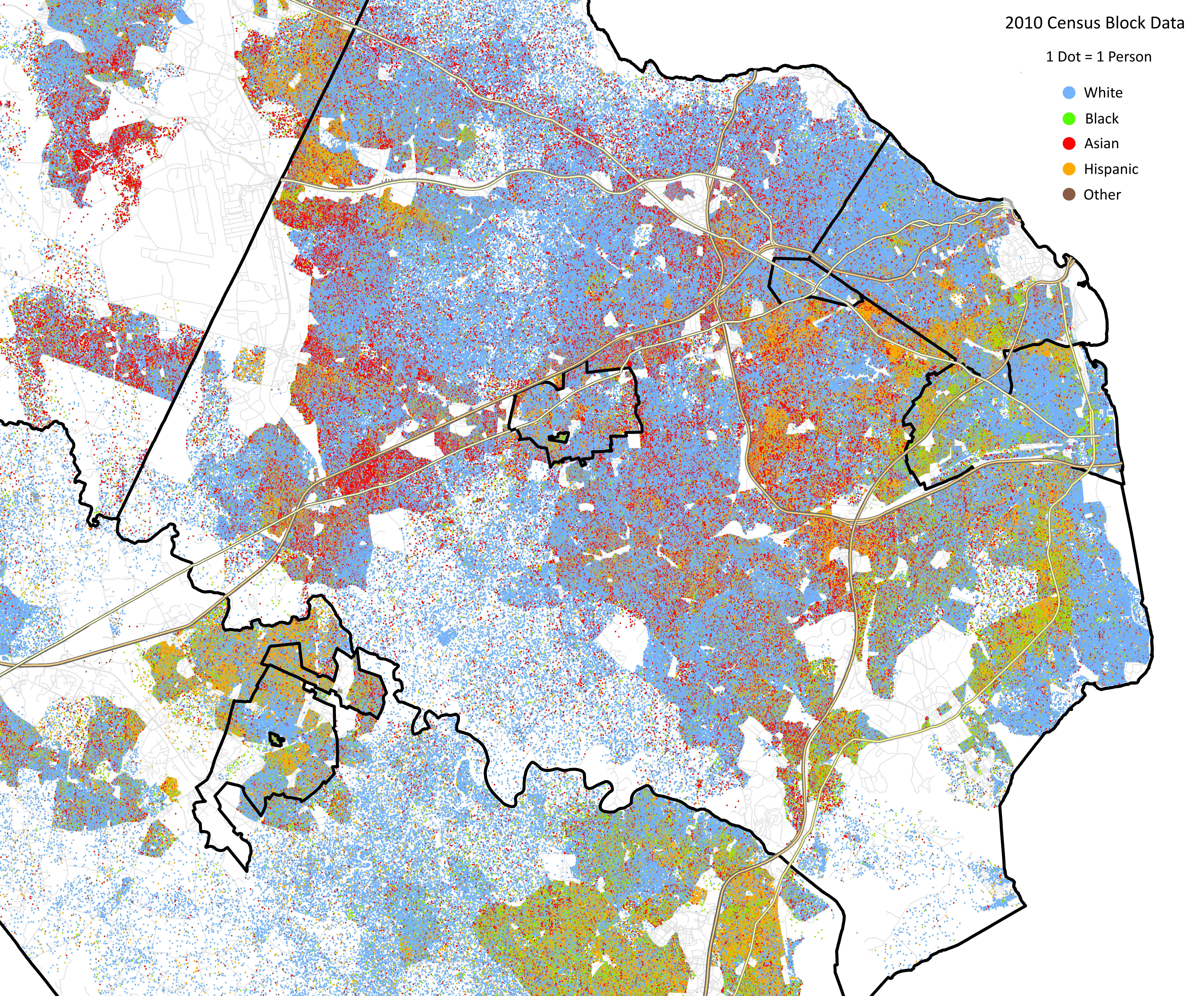 More Dot Density Maps | StatChat Census Dot Map on