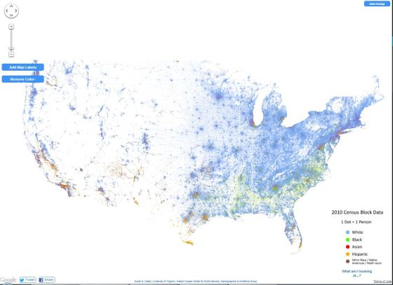 The New Racial Dot Map Statchat - Us-map-by-ethnicity