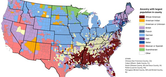 German Stat Chat - Us census ancestry map