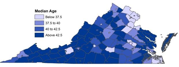 Median Age Virginia