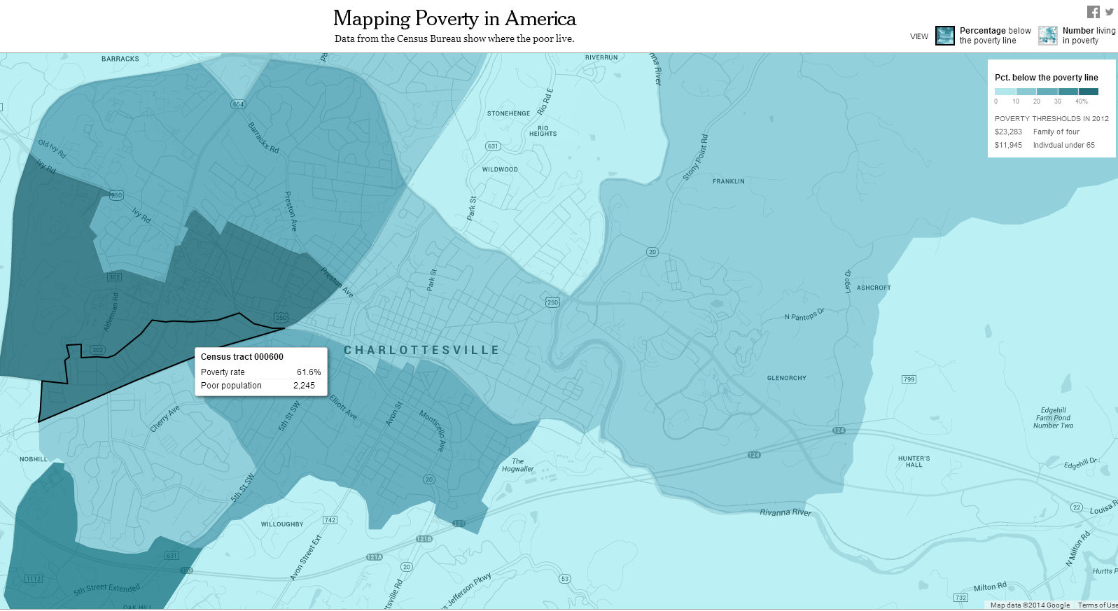 Official Poverty Estimates In The US And The Commonwealth StatChat - Us poverty map 2014