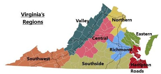 Virginia's Regions: Northern Virginia is Different | StatChat