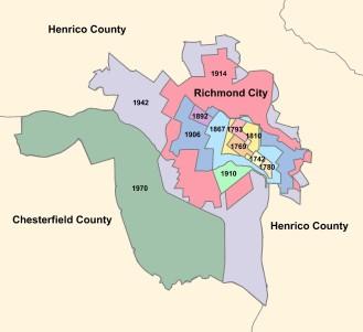 Annexation History Map Richmond
